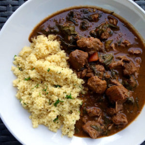 BERBERE SPICED LAMB WITH ORANGE COUSCOUS