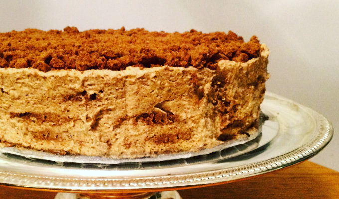 PUMPKIN GINGER SPICE ICE BOX CAKE