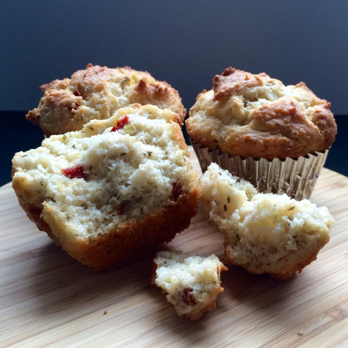 SUNDRIED TOMATOES & ASIAGO MUFFINS