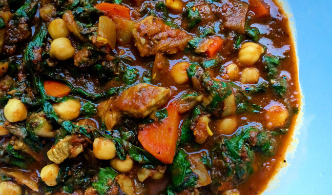 MOROCCAN BEEF STEW WITH CHICKPEAS