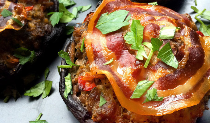 MEATLOAF STUFFED PORTABELLAS