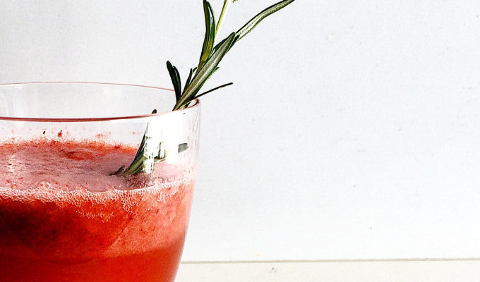 STRAWBERRY ROSEMARY COCKTAIL